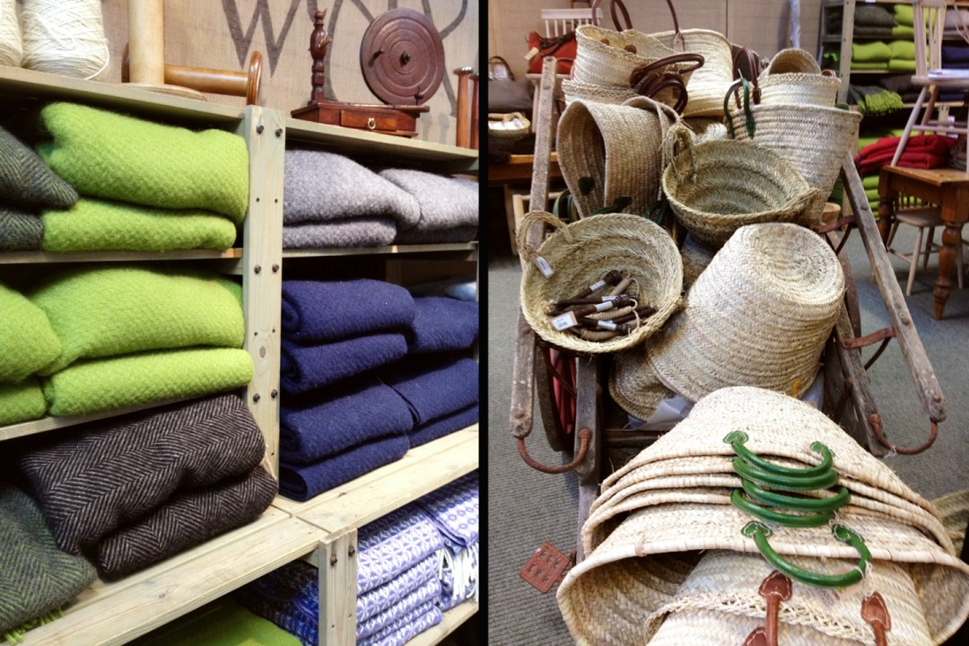 blankets and baskets