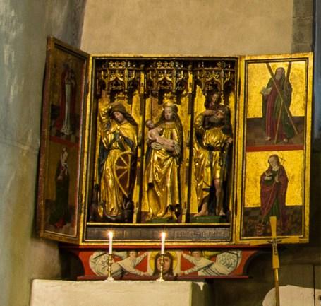 Intérieur de l'église de Trondenes