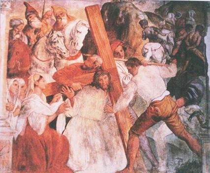 Stefano dall'Arzere, Gesù cade sotto la croce.jpg