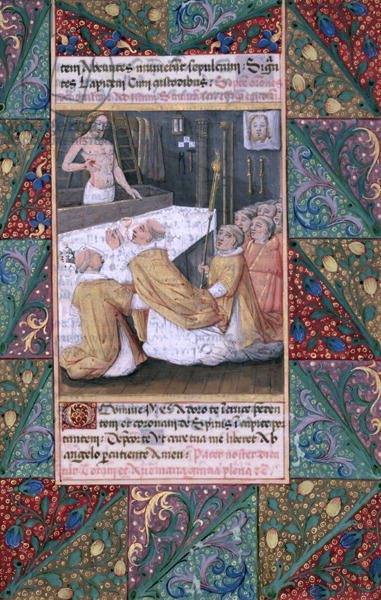 Ms Lat. Q.v.I.126 f.112 The Eucharist, from the 'Book of Hours of Louis d'Orleans',1469 (vellum)