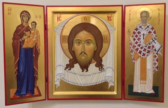 Vergine Odigitria e San Nicola di Bari