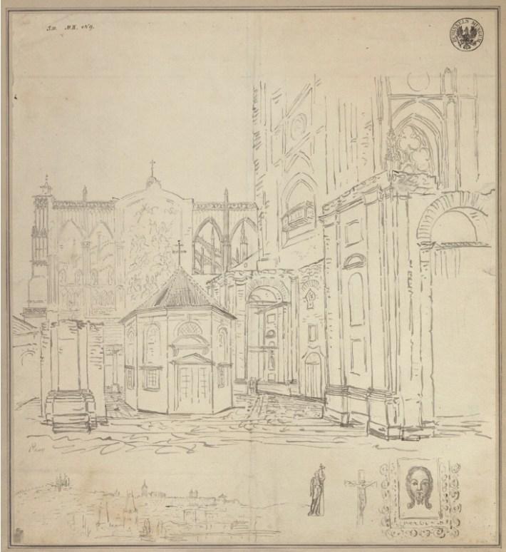 disegno Cattedrale di San Vito a Praga