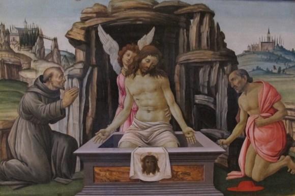 Jacopo_del_sellaio,_compianto_con_i_santi_francesco_e_girolamo