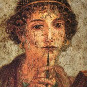 The image of Sappho found in Pompeii