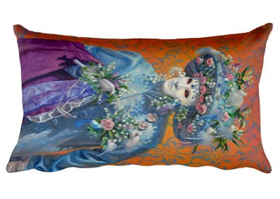 venetian carnival custom pillow painting