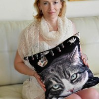 veronica winters_custom pillow_cat art 3