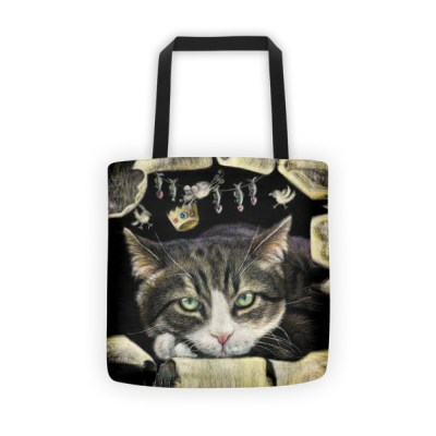 Tote bags for school: cute cat