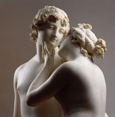 Canova, Venus and Adonis, sculpture detail