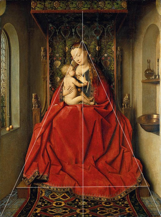 virgin and child van eyck composition