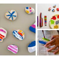 A Budget-friendly activity with Kids – DIY painted stone magnets