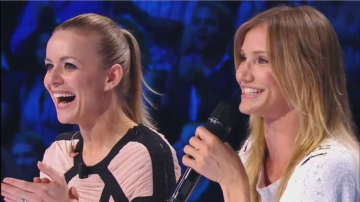 Avec Cameron Diaz - X-Factor France