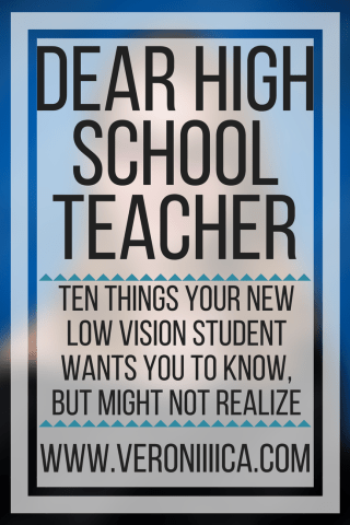 Dear High School Teacher