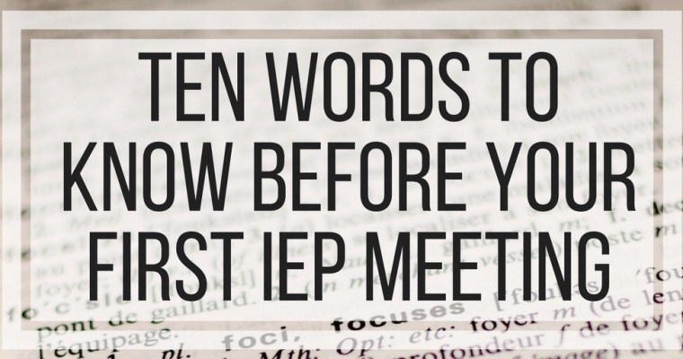 Ten Phrases To Know Before Your First IEP Meeting