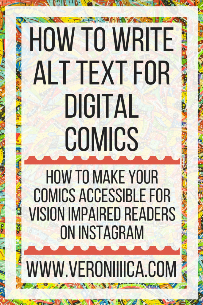 How To Write Alt Text For Digital Comics. How to make your comics accessible for vision impaired readers on Instagram