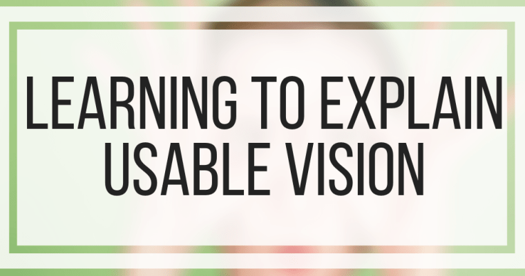Learning To Explain Usable Vision