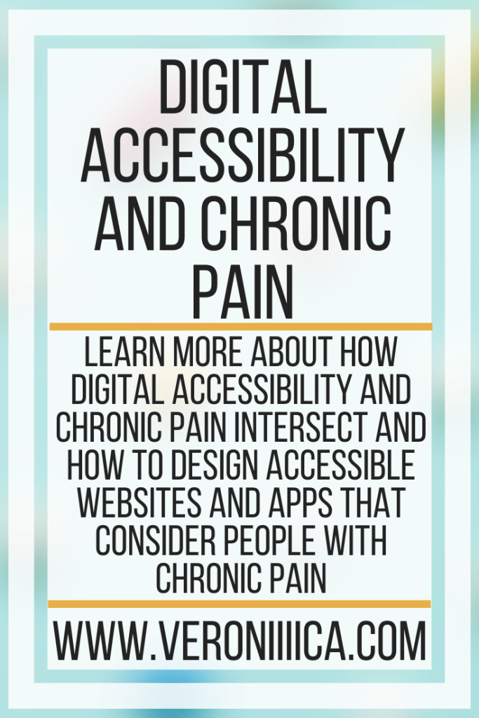 Digital Accessibility and Chronic Pain. Learn more about how digital accessibility and chronic pain intersect and how to design accessible websites and apps that consider people with chronic pain