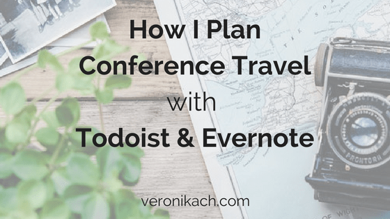 How I plan my conference trips with Todoist and Evernote