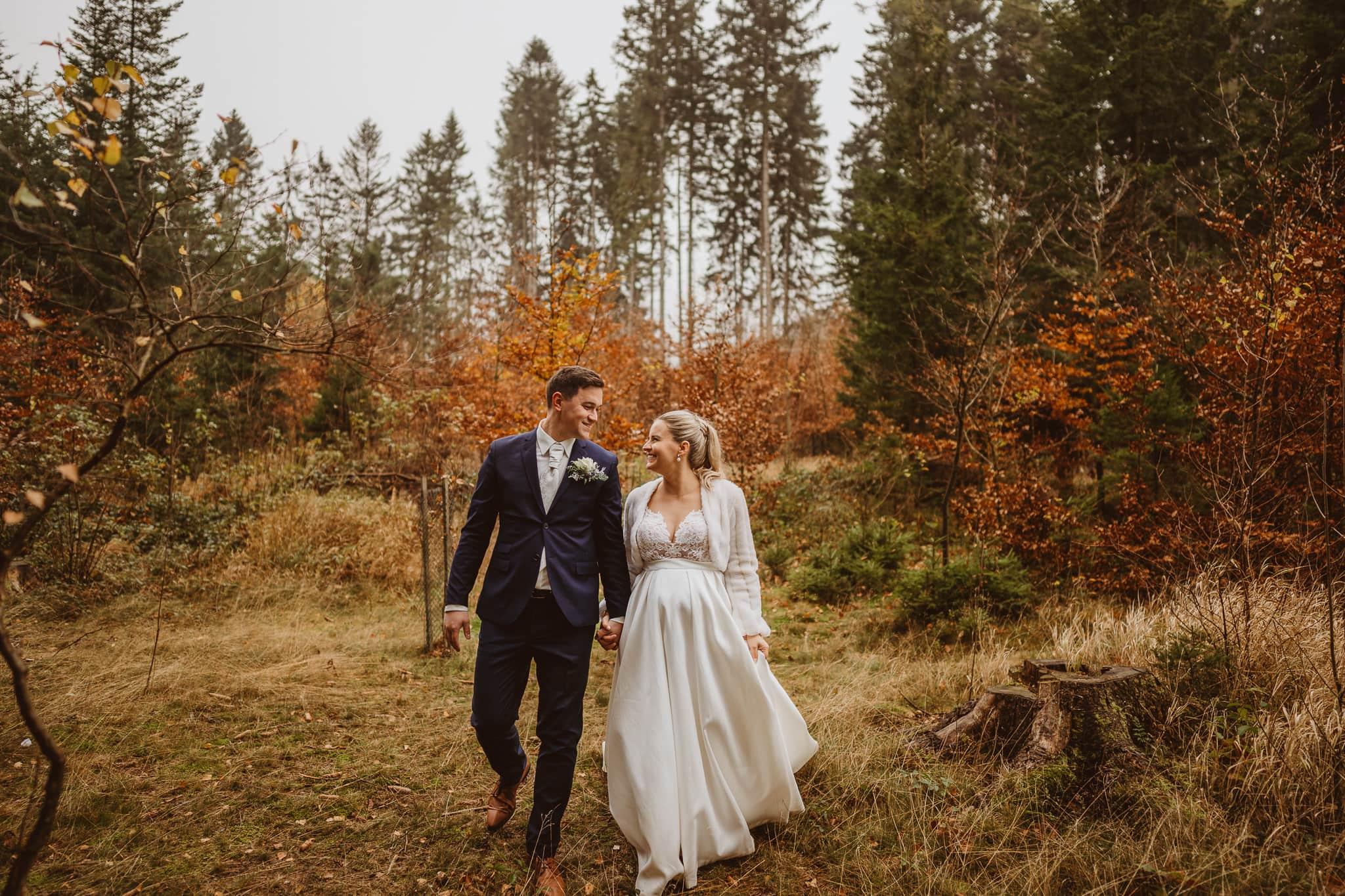 podzimní svatba na vysočině v penzionu pod Drátníkem na blatinách