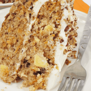 Carrot Cake with Pineapples and Pecans