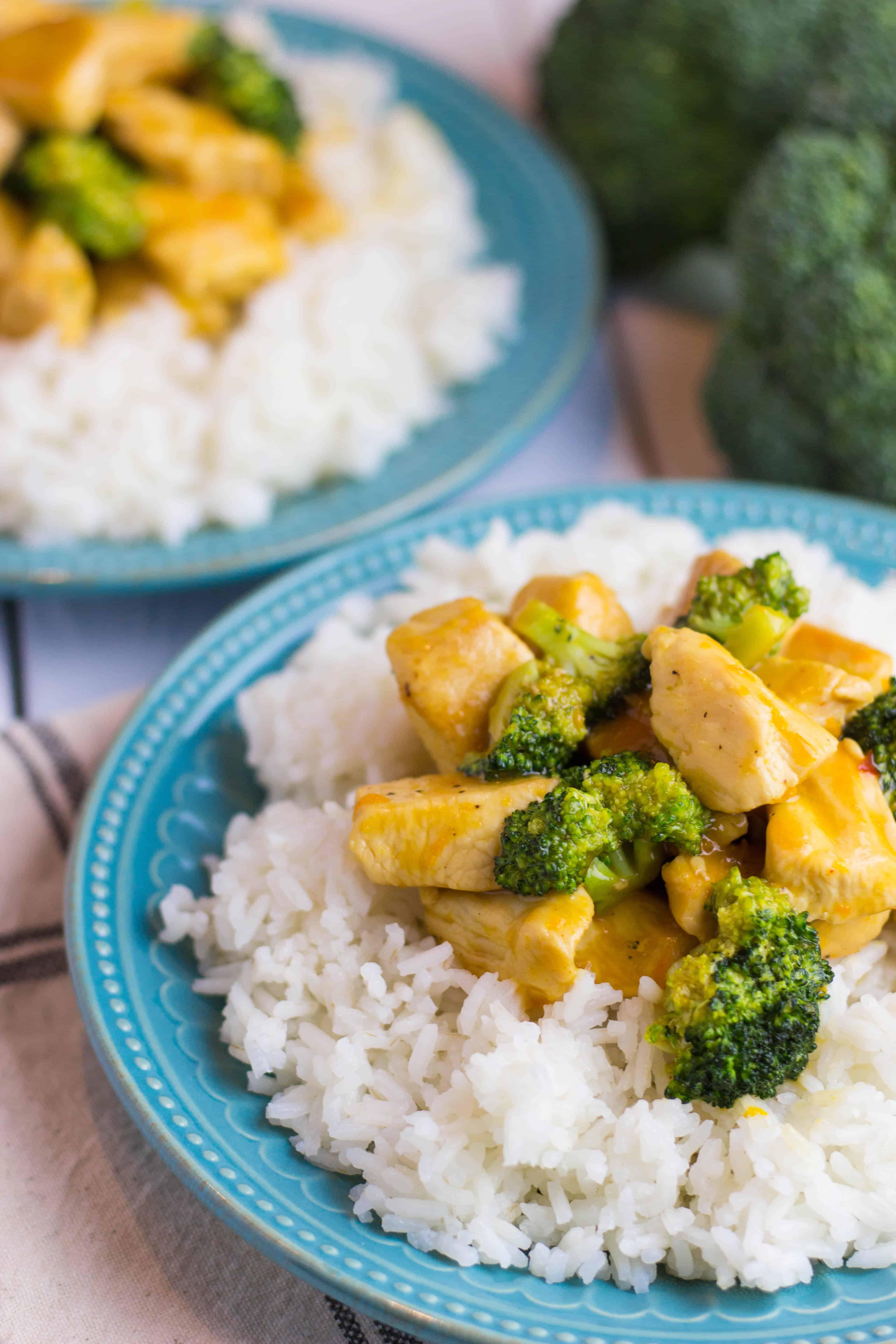 Chicken and Broccoli with Orange Glaze