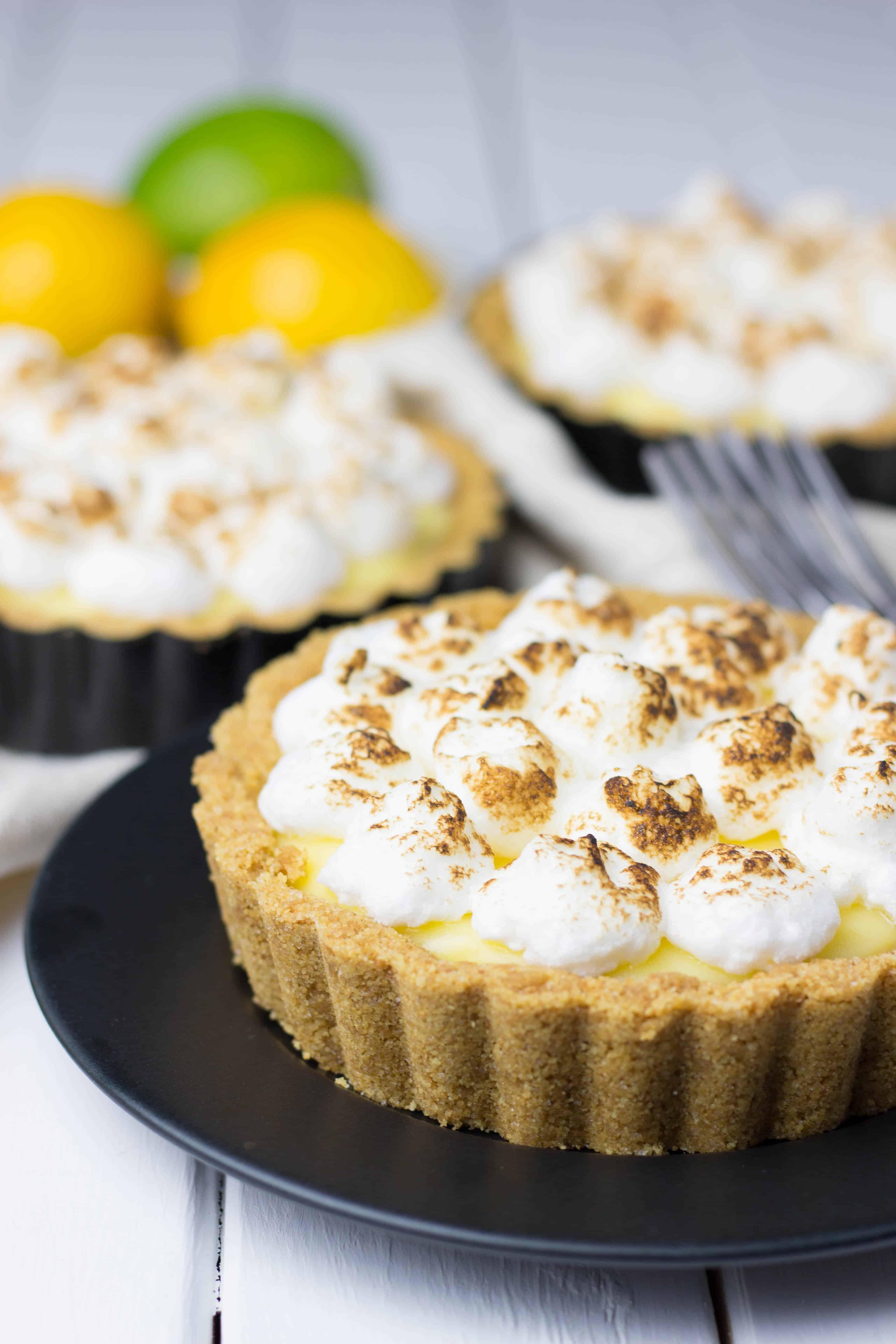 No Bake Lemon Curd Tartlets