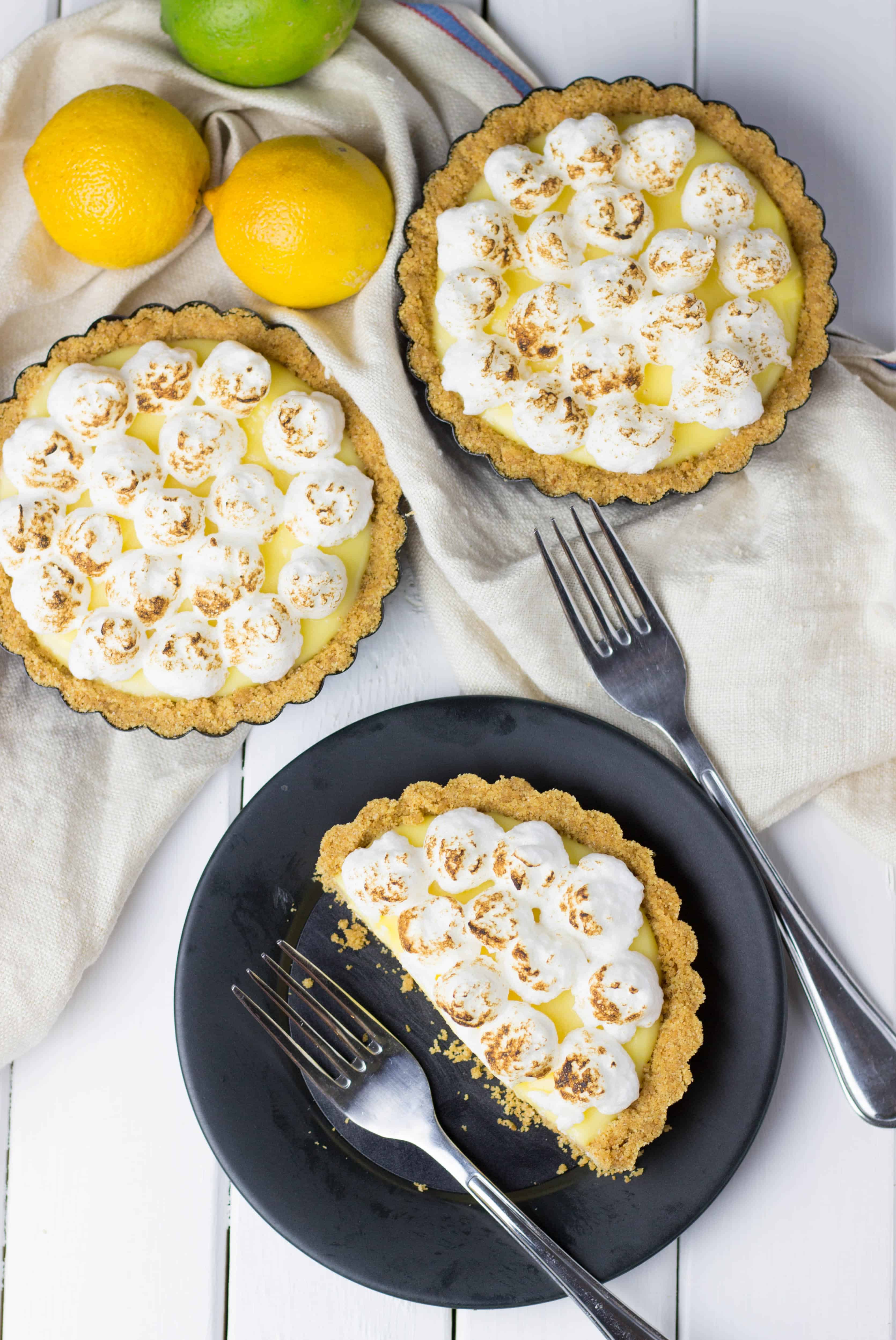 No Bake Lemon Curd Tartlets