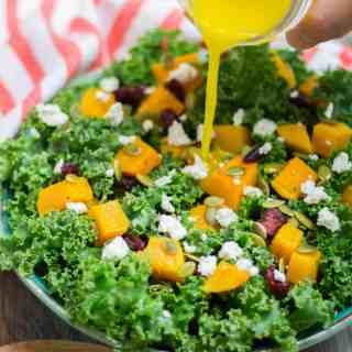 Butternut Squash Salad with Orange Dressing