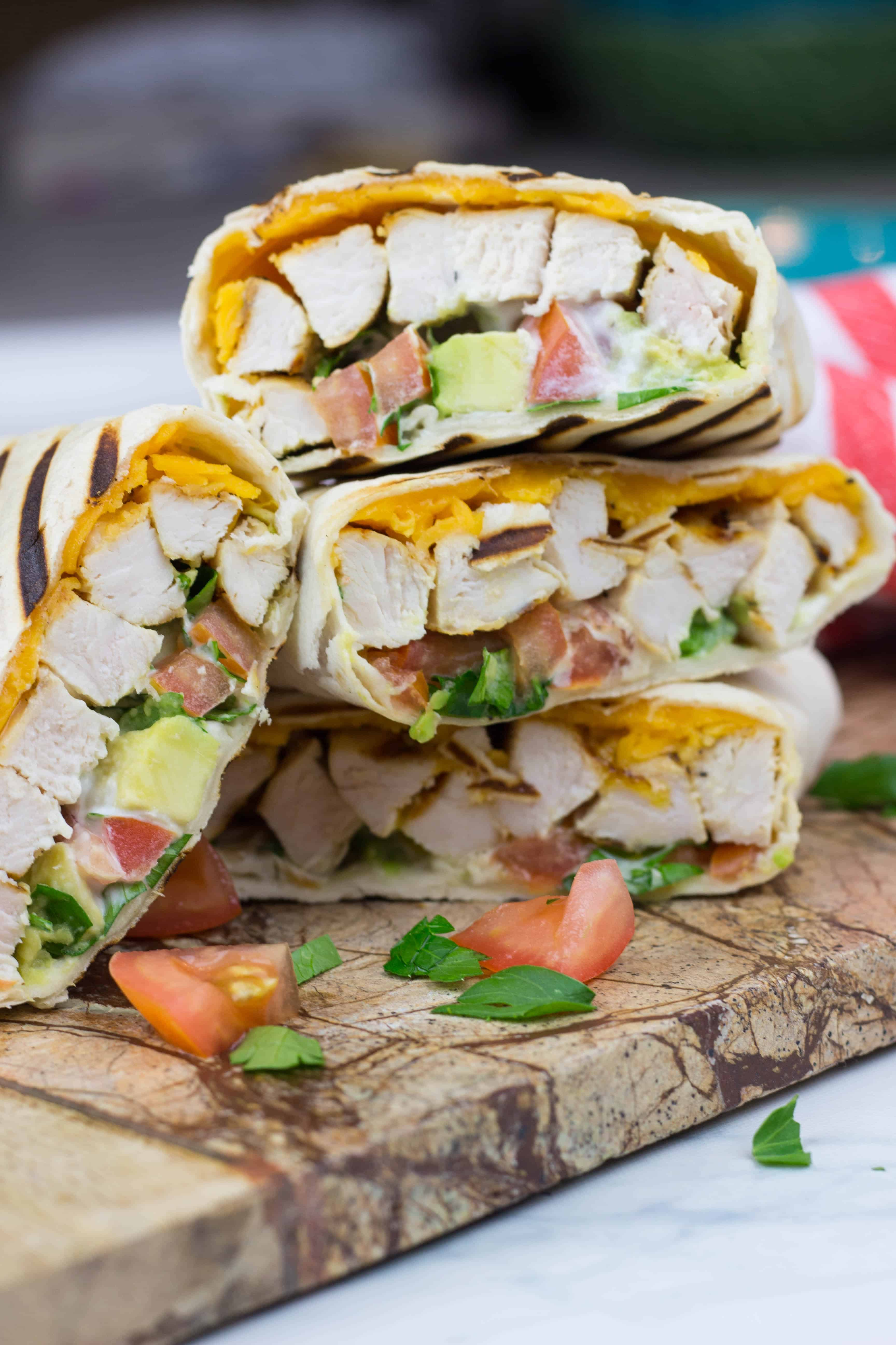 Healthy Chicken Avocado Wraps are a great lunch idea which is delicious, nutritious, and easy to make. It will take you only 10 minutes to assemble all the ingredients together to enjoy your healthy lunch.