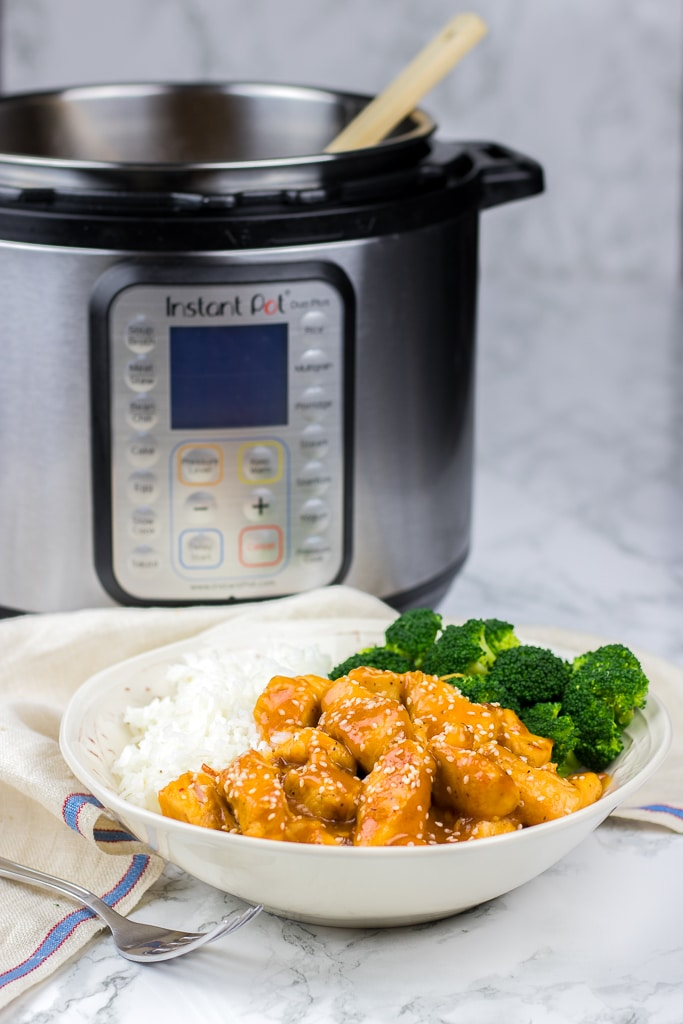 Instant Pot Orange Chicken recipe is a perfect all-in-one-pot meal that you can make in just 30 minutes. This is a perfect quick and easy dinner idea!
