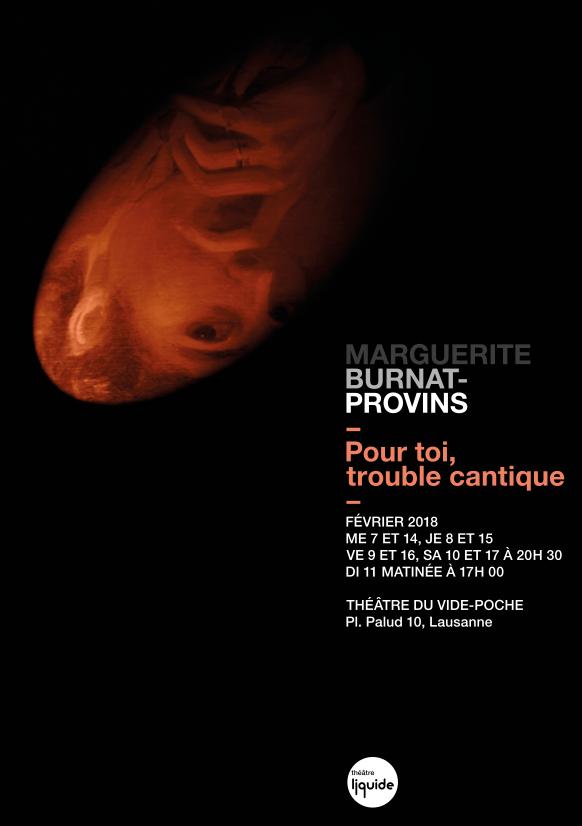 """Affiche du spectacle """"Pour toi, trouble cantique"""""""