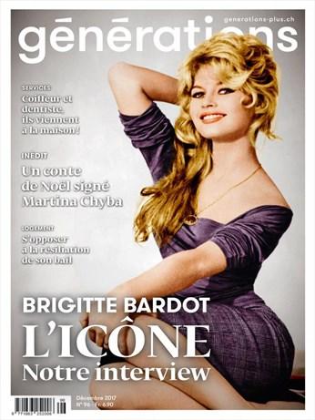 Couverture du magazine Générations