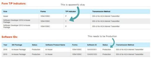 Software ID status