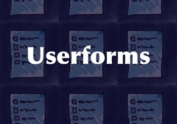 Excel Userforms