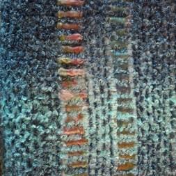 Intégration de mèches de soie dans le tissage classique