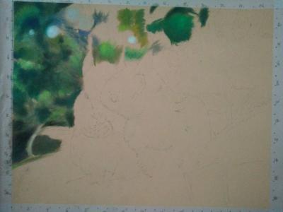 squirrel drawing pastel
