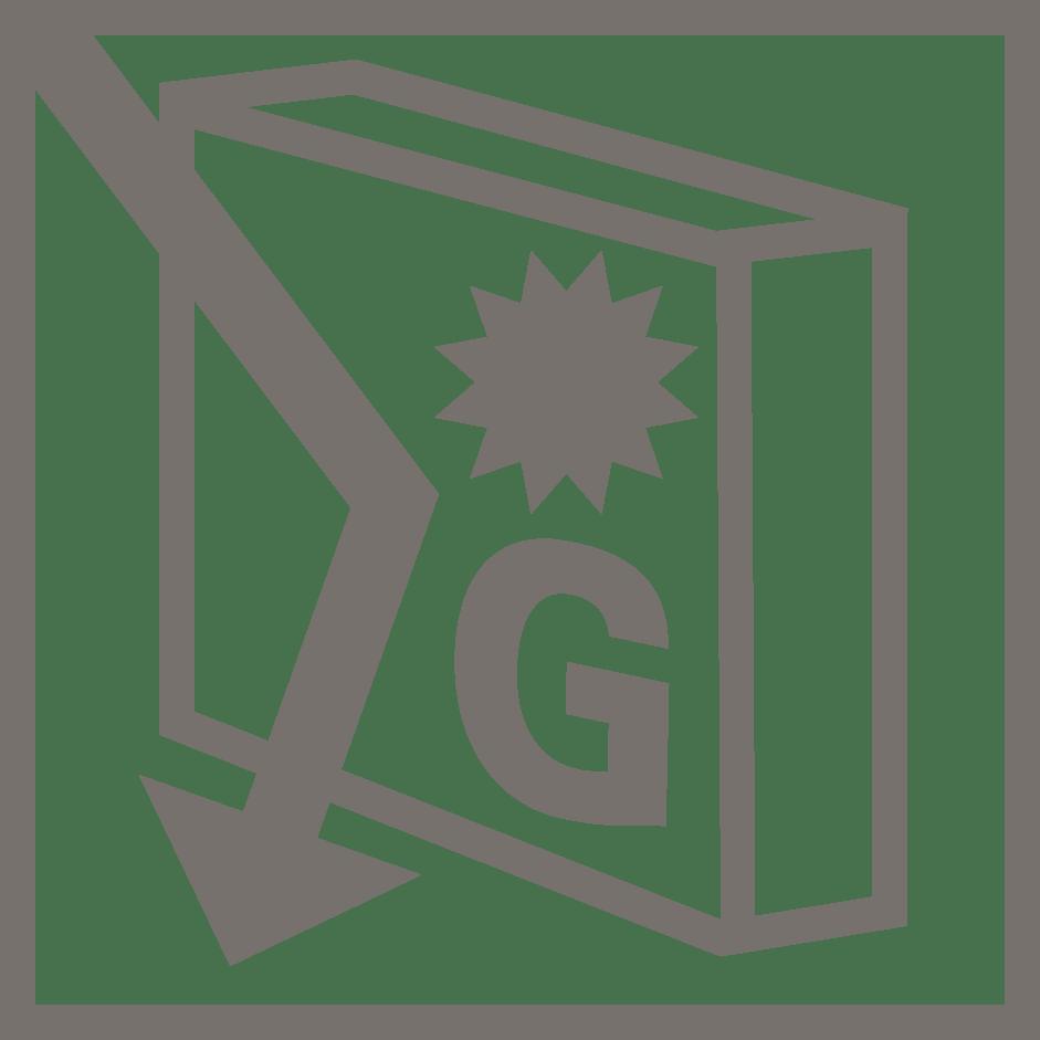 símbolo valor de G verosol naranja