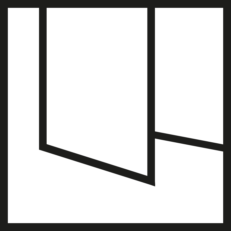 símbolo paneles deslizantes verosol negro