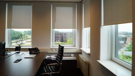 oficinas Verosol estore enrollable blanco