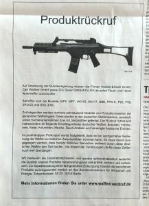 Heckler & Koch und Sauer rufen ihre Waffen zurück