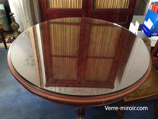 protection de table en verre trempe