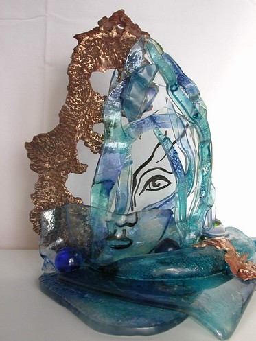 sculpture de verre : cascade