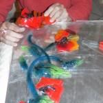 projet en verre : les coquelicots
