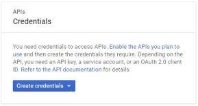 APIs Credentials
