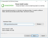 Anaconda3 5.2.0 (64-bit) Choose Install Location