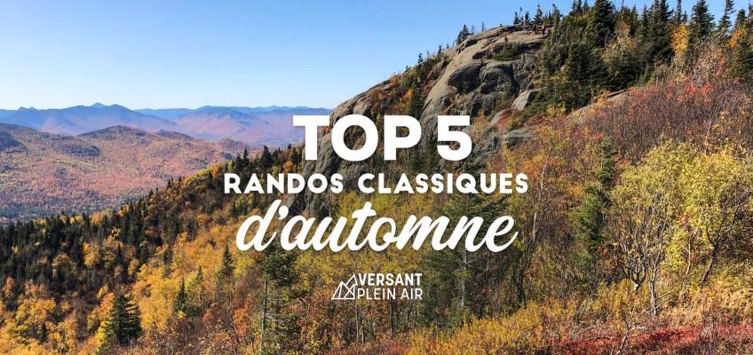Top 5 – Randonnées classiques d'automne