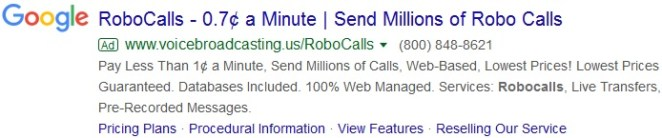 robocall example