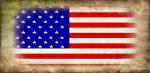 US Flag Gold Background Freestyle