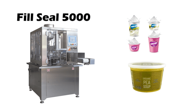 Fill Seal 5000 liquid pot fill seal machine