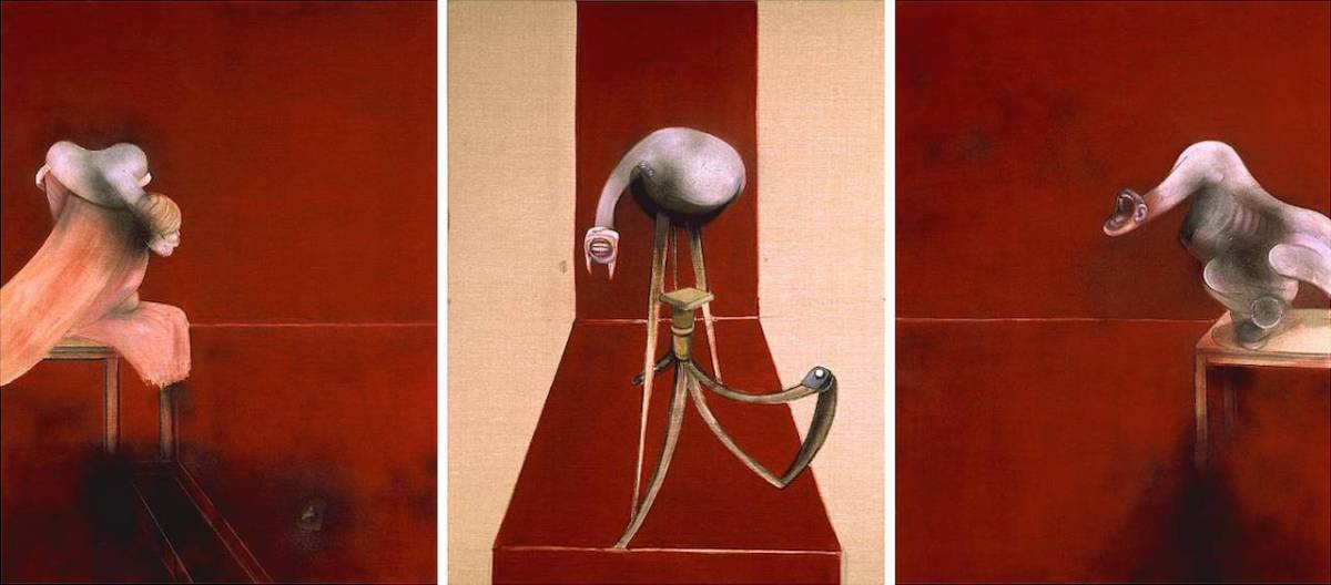 Second Version of Triptych 1944 1988 Francis Bacon 1909-1992 Presented by the artist 1991 http://www.tate.org.uk/art/work/T05858