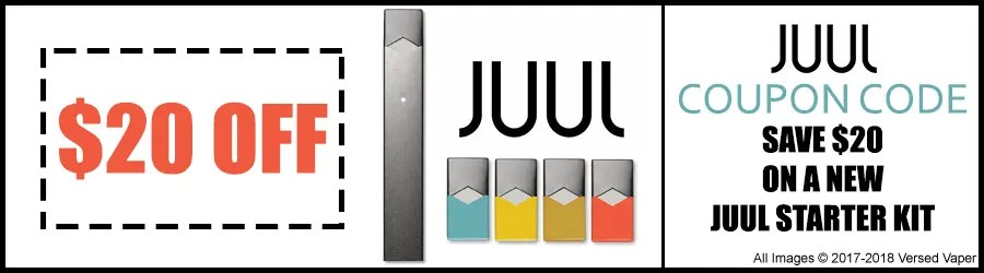 photograph relating to Juul Printable Coupon named JUUL Coupon Code - Help save $20 upon a Fresh JUUL Rookie Package!
